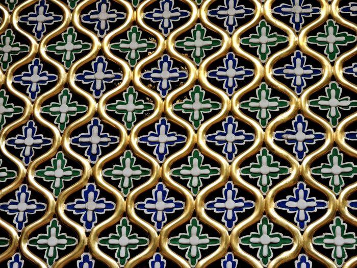 Full frame shot of pattern metal grate
