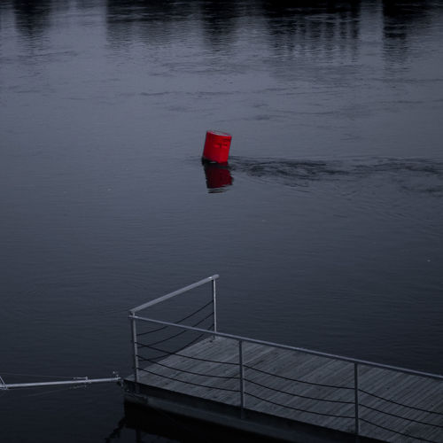 Floating red