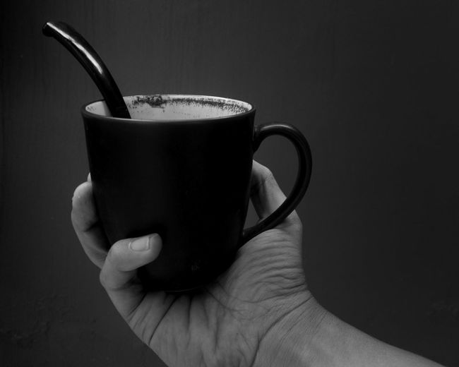 refill please Still Life StillLifePhotography Blackandwhite Blackandwhite Photography Mug Spoon Hand Bnw Human Hand Black Background Drink Tea - Hot Drink Studio Shot Close-up Food And Drink Black Coffee Coffee Coffee Cup Non-alcoholic Beverage Coffee - Drink Espresso Caffeine Hot Drink