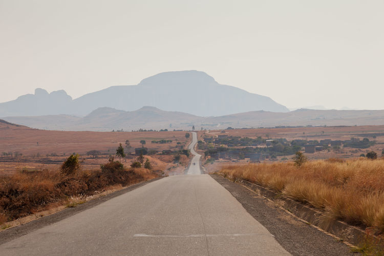 Road view on