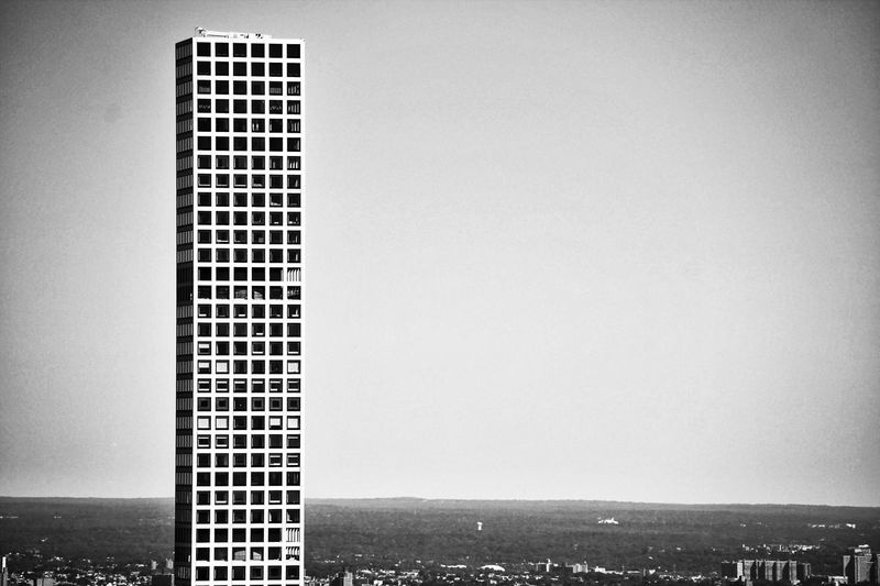 Copy Space Built Structure Building Exterior Architecture New York City Empire State Building 432 Park Avenue B&w Black And White City Tall - High Outdoors Sky Day Tall Skyscraper Modern Office Building No People Development Building Story Residential District Monochrome Photography