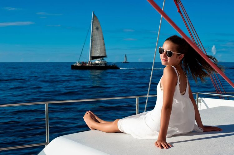 Adult Adults Only Beautiful People Beauty Beauty In Nature Freedom Luxury Nature Nautical Vessel One Woman Only Only Women Sailboat Sailing Sailing Ship Sailor Sea Summer Sunlight Travel Vacations Wealth Women Yacht Yachting Young Adult