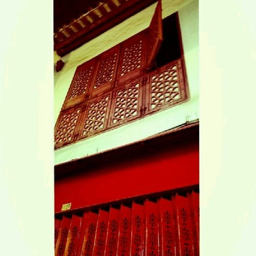 Macau Architecture Red Doors And Windows Travel Photography