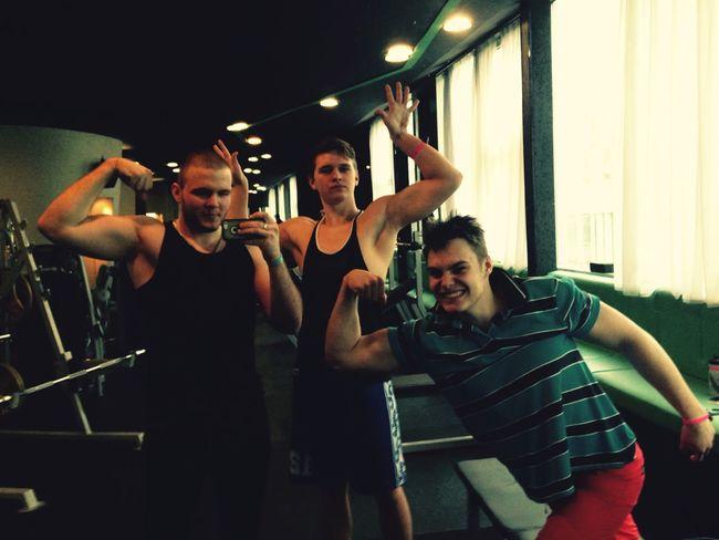 Hard Working Hard Friends Sore Muscles