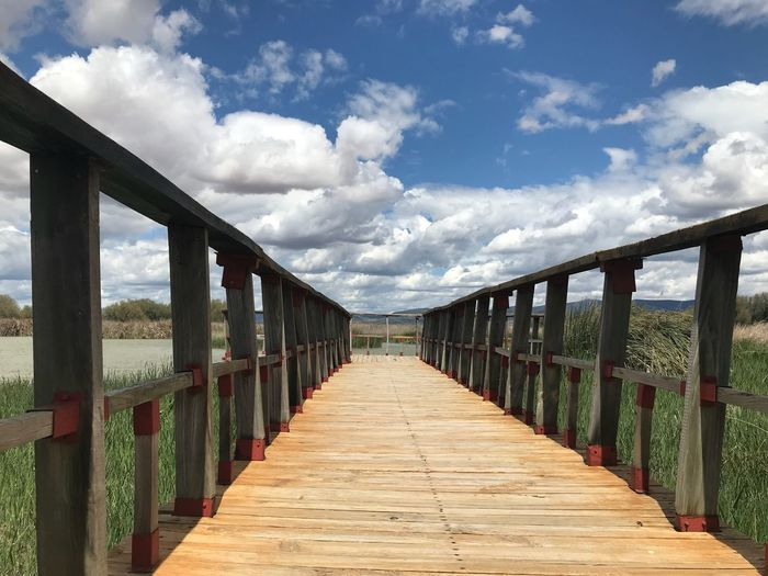 Cloud - Sky Sky The Way Forward Direction Architecture Nature Built Structure Day Bridge Wood - Material Land Tranquility