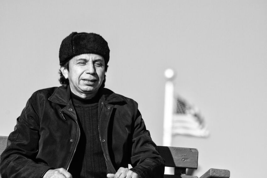 Coney Island / Brooklyn NY Black And White Photography One Person Portrait Warm Clothing Black And White Outdoors Sitting Beach Man Brooklyn Ny Blackandwhite Lifeguard Station Lifeguard Stand Bench