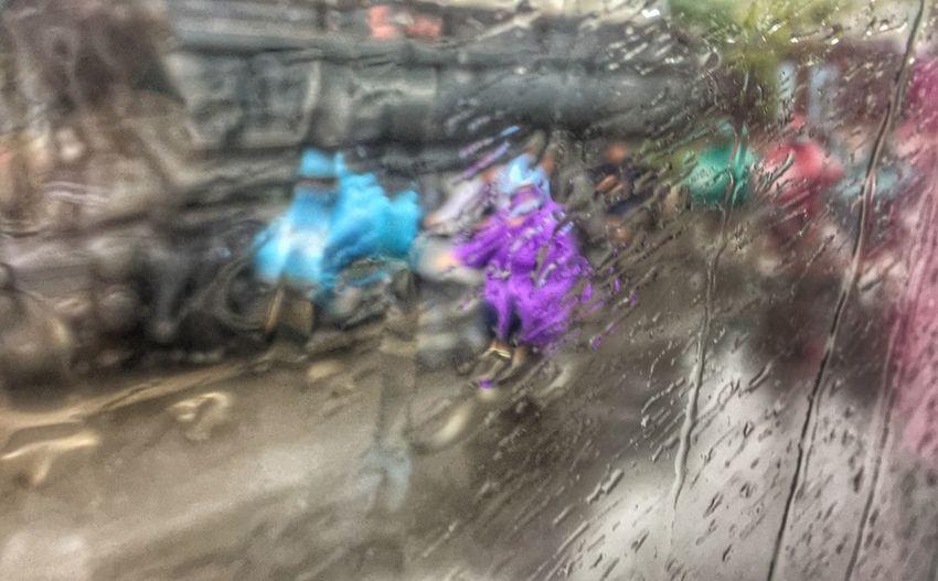 The Street Photographer - 2017 EyeEm Awards Window Wet Day Water People Scooters R Rain Road