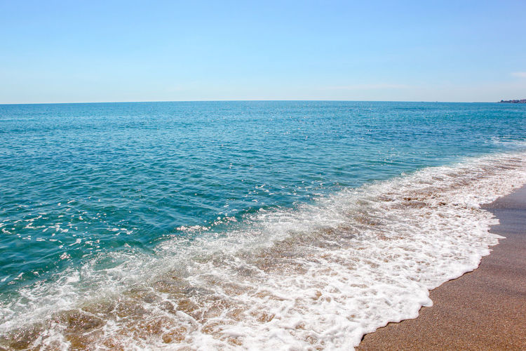 Beautiful Beach And Incredible Sea In Pomorie, Bulgaria. Beach Background Sand Summer Sea Ocean Wave Tropical Nature Water Vacation Travel Outdoor Landscape Sunlight Seascape Beautiful Sun Shore Blue Sunshine Sunny Relax Coast Day Natural Hot Paradise Island Surf Holiday Sandy Beauty Clear Calm Light Backgrounds Majestic Tranquility No People Tropical Climate Tranquil Scene Beauty In Nature Coastline Idyllic Outdoors Photography Relaxation Travel Destinations Vacations