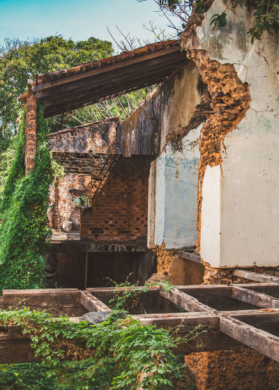 The inside of one of the abandoned houses at Alcantara. Abandoned Adventure Architecture Brick Brick Wall Building Exterior Built Structure Day Decay Discover  Explore House Jungle Nature Nature No People Old Outdoors Sky Toilet Travel Tree Wall Weathered Wood The Street Photographer - 2017 EyeEm Awards The Architect - 2017 EyeEm Awards EyeEmNewHere EyeEm Selects The Architect - 2018 EyeEm Awards