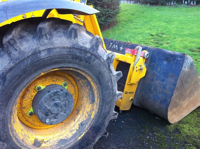 Heavy Plant Bucket and Tyre Loadall Telehandler Telescopic JCB Machine Construction Forklift Yellow