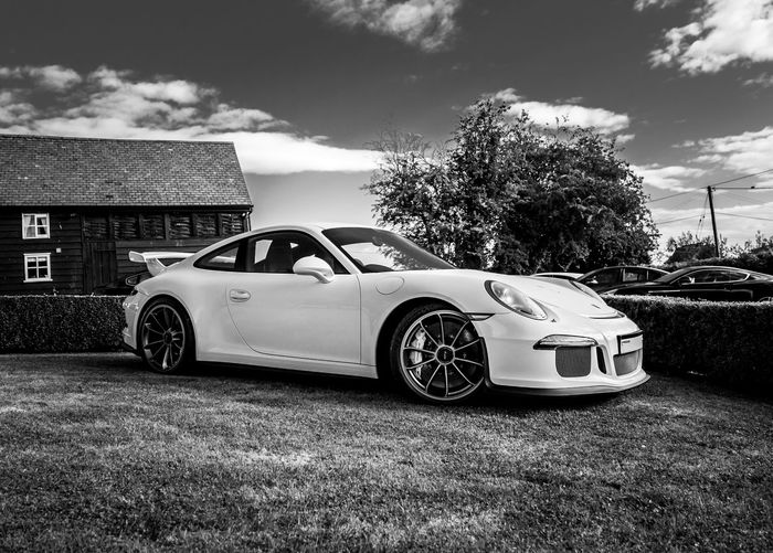 Porsche on display at Shelsley Walsh Arrangement Black And White Display Gt3 Hill Climb No People Outdoors Porsche Porsche 911 Shelsley Walsh
