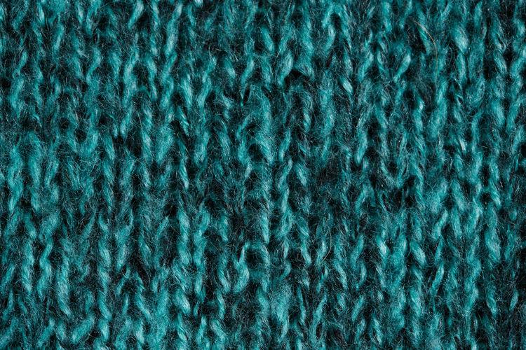 Full frame shot of blue wool