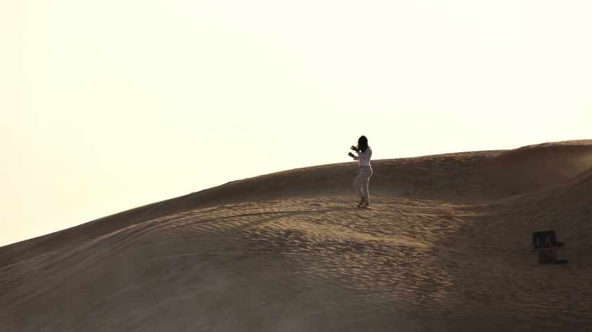 Picturing Individuality Lonley Picture Individuality Long Hair, Don't Care. Lonley Girl Dubai Desert Breathing Space