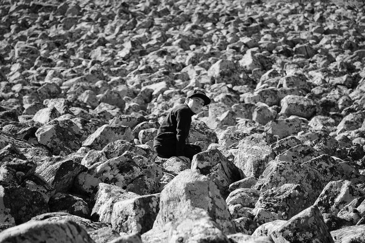 My Son Real People Nature Beauty In Nature Stones Landscape Bw_collection Noir Et Blanc Blackandwhite Black & White Black And White Bnw_collection Bw_lover Blackandwhite Photography Nature Country Aveyron Bnw Child Countryside Beautiful Nature Black And White Friday