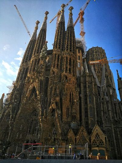 Architecture Built Structure Low Angle View Building Exterior No People Sagrada Familia Streets Of Barcelona Barcelona