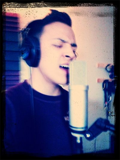 Singing my lungs out!! #recording #Newbeginings