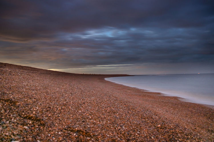 Beach Beauty In Nature Cloud - Sky Day Landscape Nature No People Outdoors Scenics Sea Shingle Street Sky Sunset Tranquil Scene Tranquility