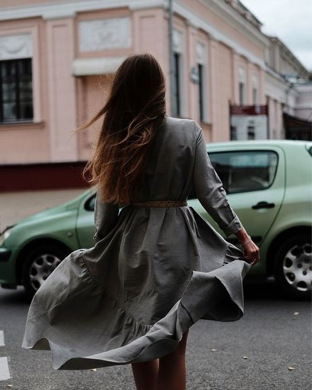Street walk Building Exterior Car One Person Three Quarter Length Street Outdoors Day Long Hair Focus On Foreground Land Vehicle Walking Young Adult City Young Women Ootd OOTD♥ Outfitoftheday Outfit Stylish Fashion Windy Adventures In The City