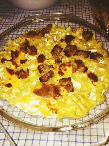 Macarrao Cheese massa gratinada com vitela, natas e queijo cheedar Touparachefdoanocj