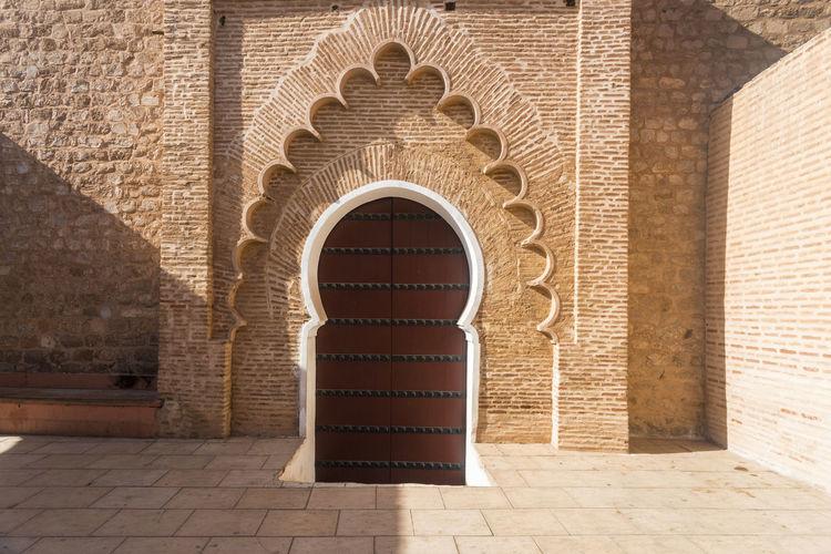 Brick wall of historic building