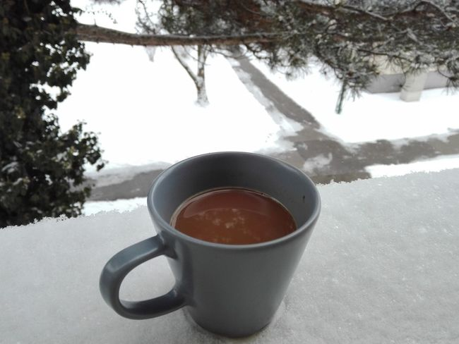 Coffe time Coffee Morning Close-up Cold Temperature Drink Food And Drink No People Snow Winter