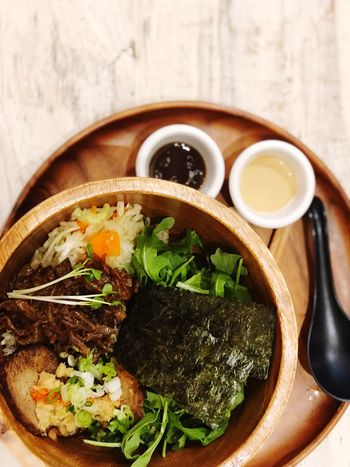 Good for the soul Food And Drink Food Freshness Healthy Eating Ready-to-eat Indoors  Serving Size Directly Above No People Soup Drink Asian Food Still Life High Angle View Japanese Food Meal Bowl Table Wellbeing Close-up