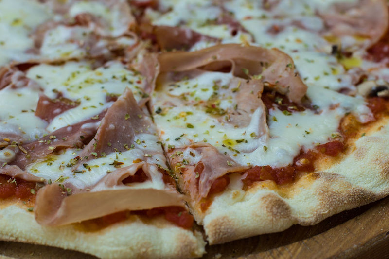 Food Food And Drink Freshness Close-up Ready-to-eat Pizza Indoors  Still Life No People Dairy Product Cheese Bread Indulgence Italian Food SLICE Fast Food Focus On Foreground Selective Focus Baked Snack Breakfast Temptation