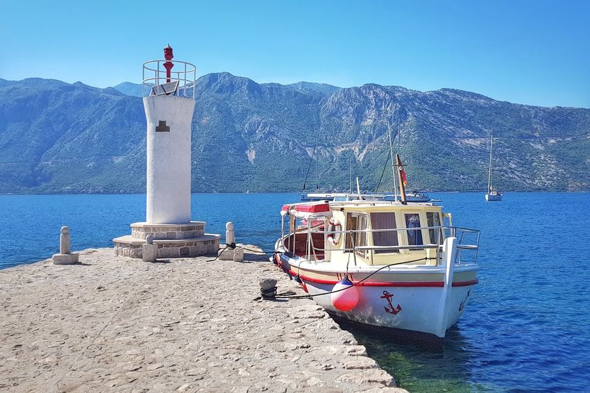 Sea Island Our Lady Of The Rocks PERAST Montenegro Boat Seascape Seaview Nautical Vessel Lighthouse Travel Destinations