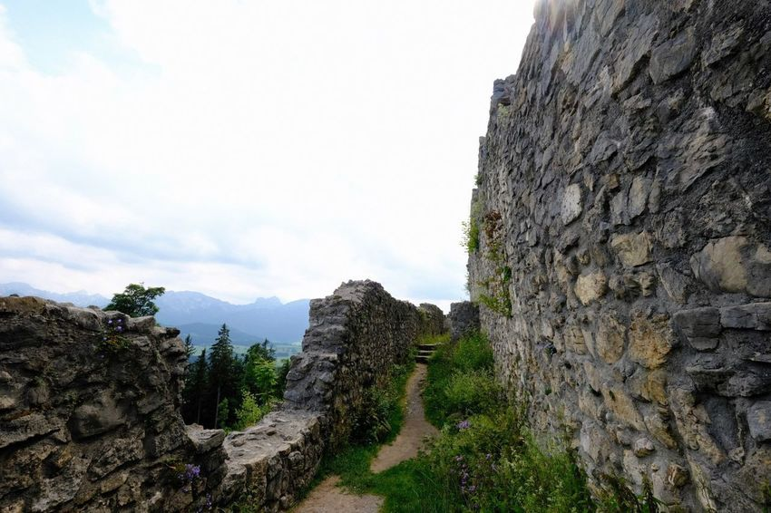 Bavaria Sky Architecture Built Structure Nature Day History Wall The Past Mountain Ancient Wall - Building Feature Stone Wall Rock Old Ruin