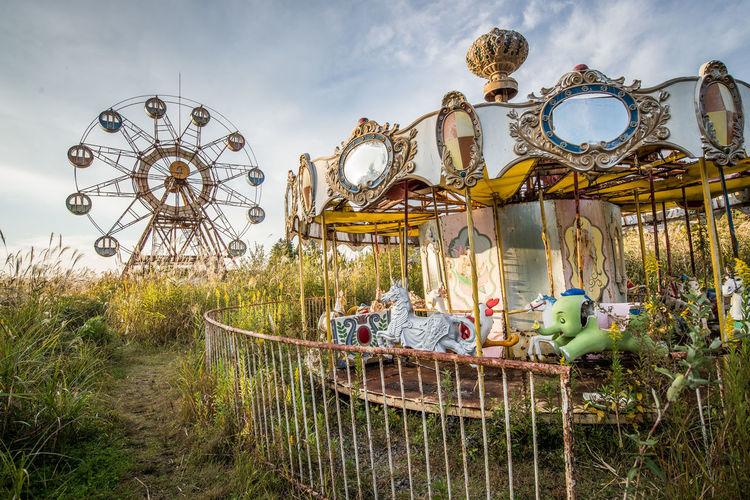 Close-up of amusement park