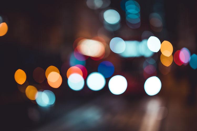 Abstract city bokeh lights in London at night Defocused Illuminated Night Lighting Equipment Geometric Shape Circle No People Glowing Light - Natural Phenomenon Light Street City Pattern Lens Flare Outdoors Abstract Background London Lights Bokeh Blur Blurred Nightlife