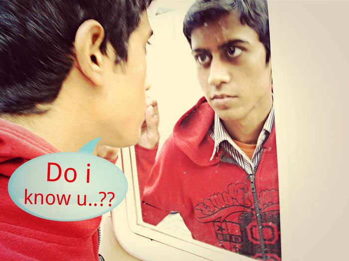 Confused? Wtf Lol in mirror Today's hot look