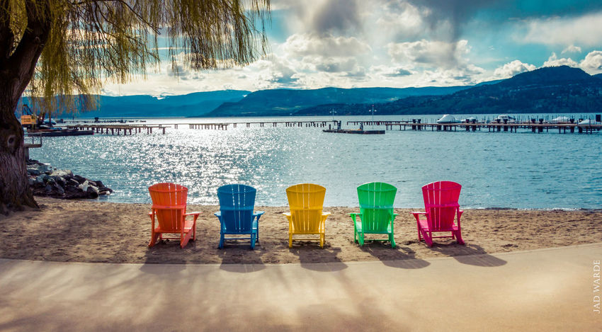 Beach Water Day Outdoors Multi Colored No People Cloud - Sky Sand Sea Sky Mountain Nature