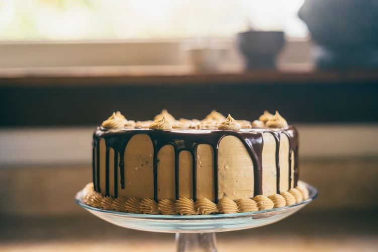 Chocolate peanut butter cake Birthday Cake Desserts Sweets Cake Food And Drink Focus On Foreground Food Sweet Food Indulgence Temptation Freshness Dessert Ready-to-eat Indoors  Close-up