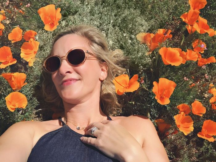 Selfie in the poppy super bloom Orange Poppy Poppy Flowers Sunglasses Flower One Person Young Adult Outdoors Headshot California Dreamin Portrait Smiling Real People One Woman Only Nature