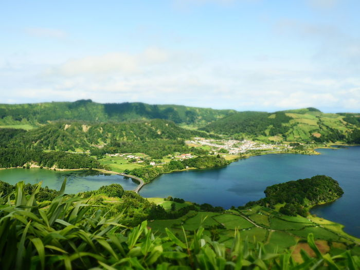 Scenics Water Nature Landscape Travel Plant Sky Green Color Sea Beauty In Nature Cloud - Sky Vacations Mountain No People Outdoors Blue Travel Destinations Tree Beach Beauty Lagoa Das Sete Cidades Lagoon Azores Açores - São Miguel Vulcanic Landscape The Week On EyeEm