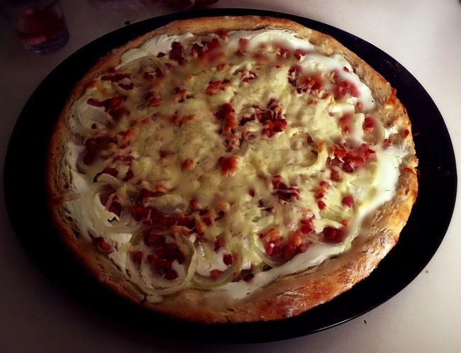 Pizza Sourcream❤ Bacon! Cheese Homemade Hungarian