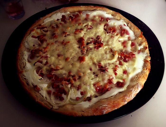 Pizza Sourcream❤ Bacon! Cheese Homemade Hungarian