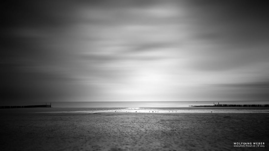 Seascape Netherlands Blackandwhite Black And White Monochrome Long Exposure Darkness And Light Smart Simplicity