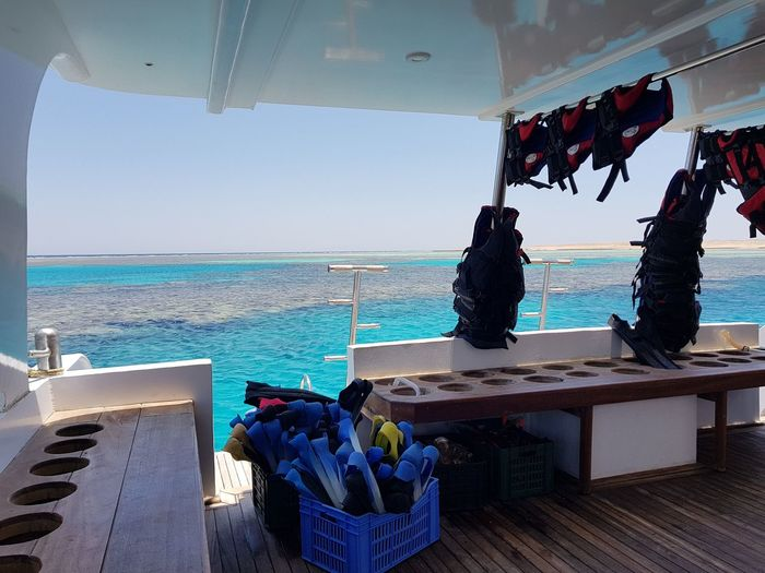 Red Sea,Hurghada,Egypt Snorkling Boat Holiday Water Sea Beach Nautical Vessel Hanging Sky Horizon Over Water