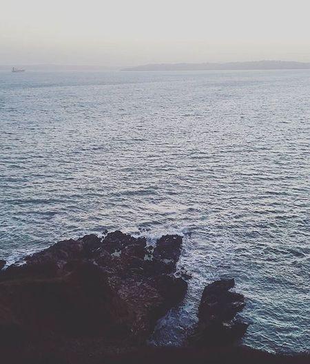 Pendennis Point Sea Ocean Cliff Rock Horizon Misty Nature Naturelovers Ig_naturelovers Ig_nature Pixelpanda Instapic