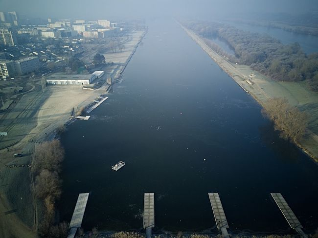 Aerial View Architecture River City Water Built Structure Building Exterior Cityscape No People Nautical Vessel Outdoors Connection Harbor Day Frozen Nature Dji DJI Mavic Pro