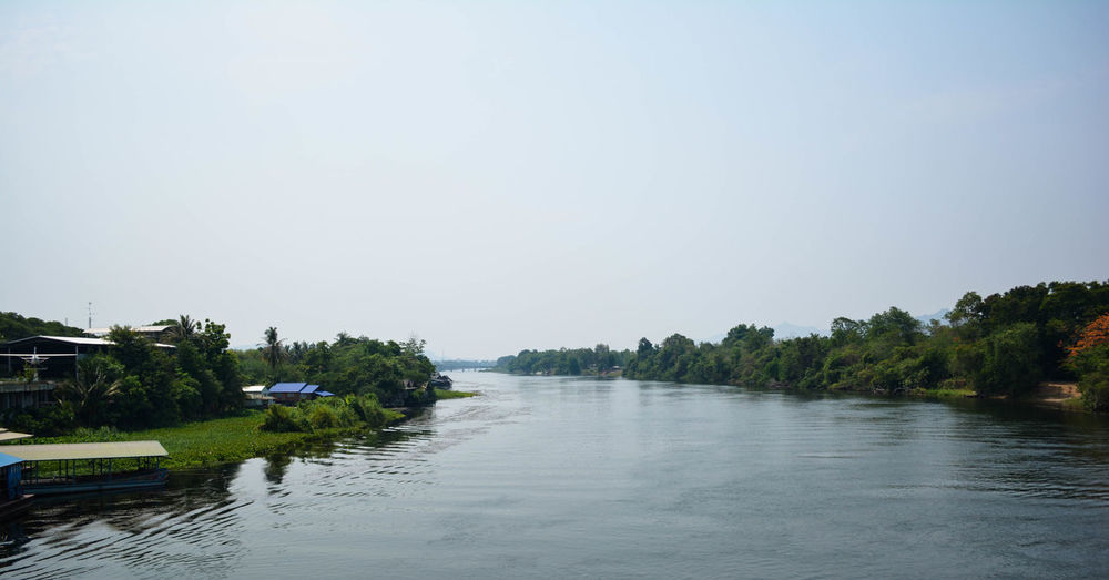 Scenic view of river against clear sky
