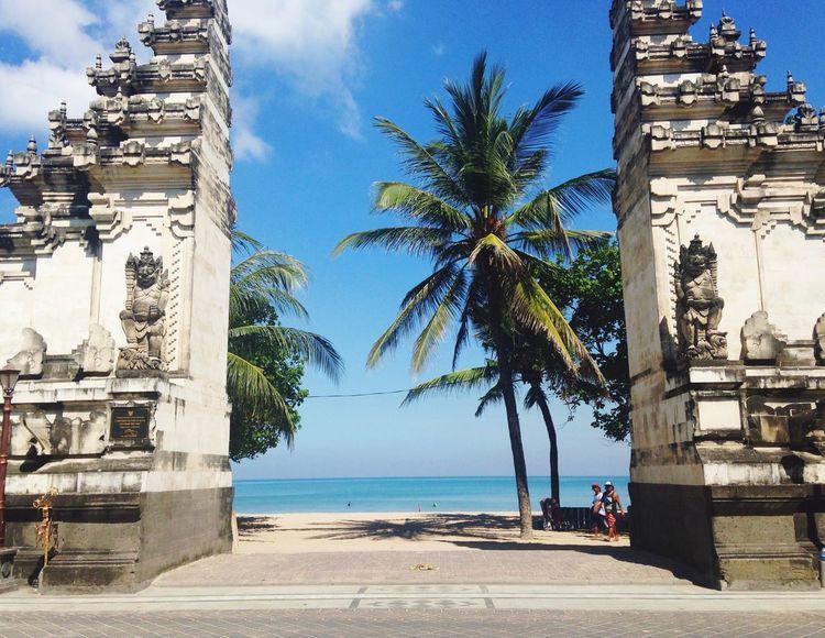 Kuta beach, Bali Kutabeach Kuta Bali INDONESIA Travel Wanderlust South East Asia Hot Bali Beach Surf Holiday Palm Tree Architecture Stone Blue Sky Clear Sky Old Buildings Palm Landscape Holidays Wanderlust Nature Blue Summer Outdoors