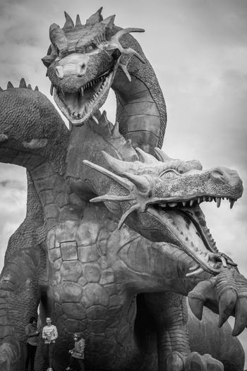 Animal Themes Awful Dragon Giant Jaws Lipetsk Region Monochrome Photography Mythology Outdoors Sculpture STATELY SCULPTURE TakeoverContrast TALES FROM RUSSIAN Zadonsk