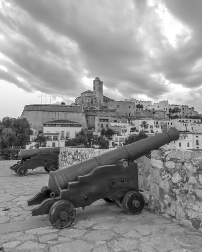 Dalt Ibiza Eivissa Old Town World Heritage Ibiza World Human Heritage Site World Heritage Site World Heritage Site By UNESCO Dalt Vila EyeEm Selects Military Weapon War History Cannon Sky Building Exterior Built Structure