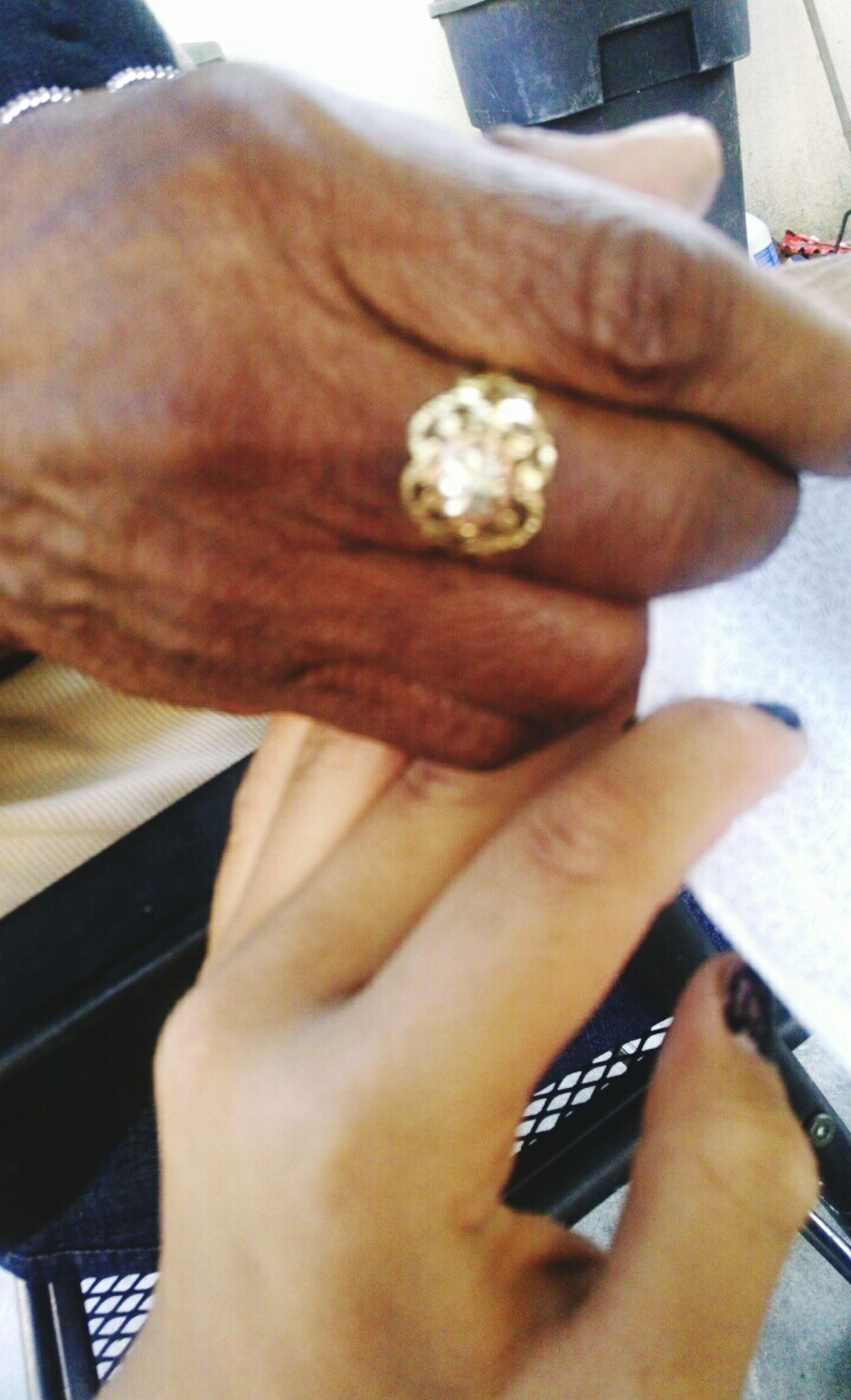 person, part of, human finger, cropped, holding, indoors, lifestyles, personal perspective, close-up, unrecognizable person, leisure activity, men, touching, focus on foreground, ring, wristwatch