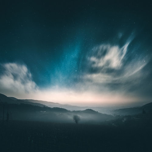 Colline in Valpolicella Astronomy Beauty In Nature Galaxy Landscape Mountain Mountain Range Nature Night No People Outdoors Scenics Sky Space Star - Space Tranquil Scene Tranquility