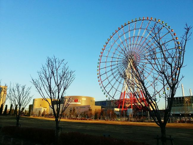 Beautiful Serenity Bluesky Koto Japan Haneda Winter 4℃ Peaceful Ferris Wheel Travel Destinations Amusement Park Outdoors Arts Culture And Entertainment Sky Illuminated No People Day Splendid