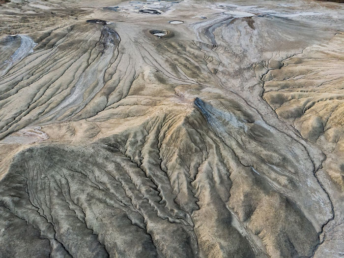 High angle view of volcanic landscape